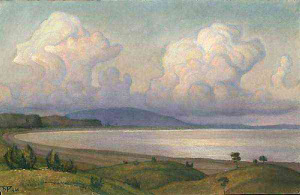 Облако над озером. (Пирос). 1966