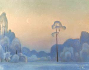 Морозный вечер. 1989.