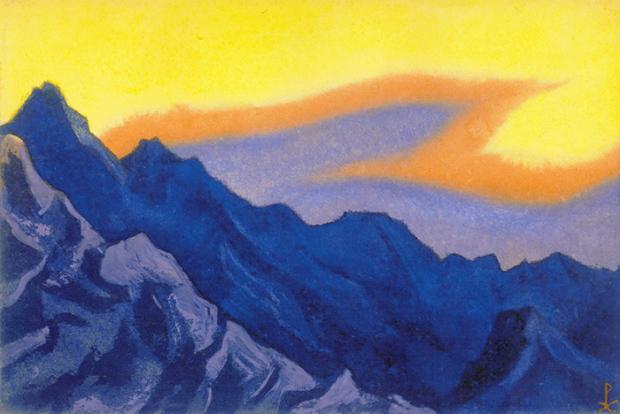 Н.К. Рерих. Гималаи [Небесное пламя]. 1945