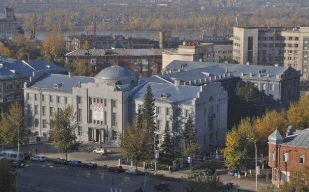 Новосибирский государственный художественный музей (ранее Новосибирская областная картинная галерея, бывшее здание Сибревкома). Архитектор А.Д.Крячков. Новосибирск