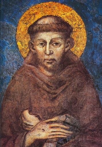 Чимабуэ (1240−1302).Святой Франциск. Фреска. 1273. Монастырь Сакро Конвенто. Ассизи