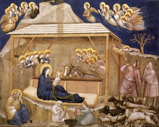 Джотто ди Бондоне (1267—1337). Рождество Христово. 1315−1320. Собор Святого Франциска, Ассизи