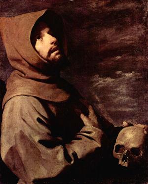 Франсиско де Сурбаран, Святой Франциск, 1658. Старая пинакотека, Мюнхен