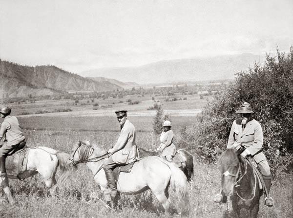 З.Г. Лихтман, Ю.Н. Рерих, Е.И. Рерих, Н.К. Рерих. Алтай, август 1926 г.