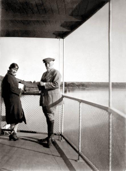 З.Г. Лихтман, Н.К. Рерих. Сибирь, р. Обь, 1926 г.