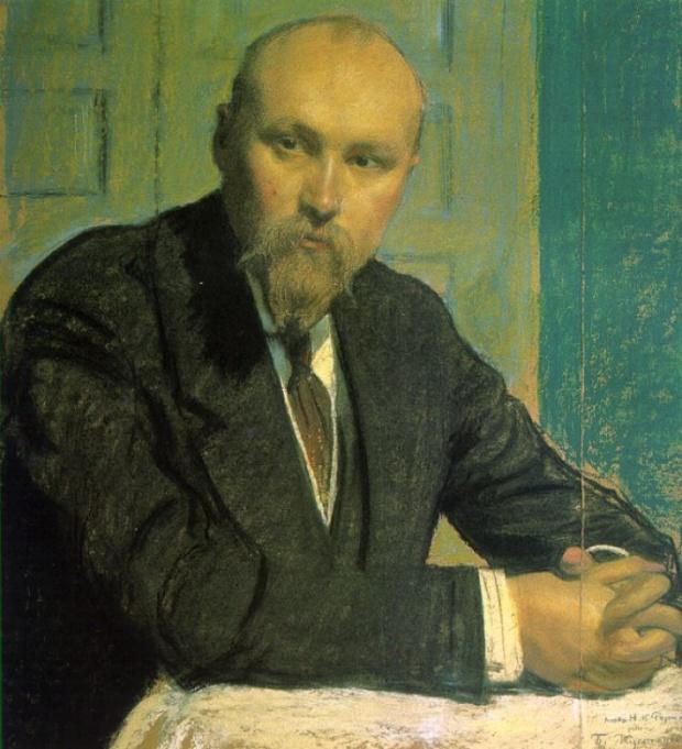 Кустодиев Б. Портрет Н.К. Рериха