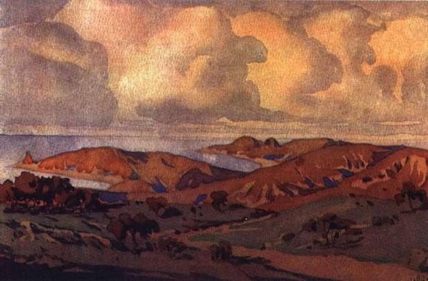 Максимилиан Волошин. Крым. В окрестностях Коктебеля. 1910
