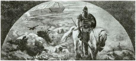 Н. К. Рерих. Утро Богатырства Киевского (эскиз фрески)