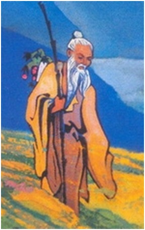 Н. К. Рерих. Чарака Аюрвед (фрагмент). 1932
