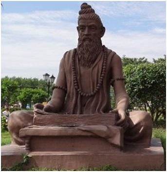 Махариши Чарака – автор Чарака Самхиты. Современная скульптура. Харидвар, Индия
