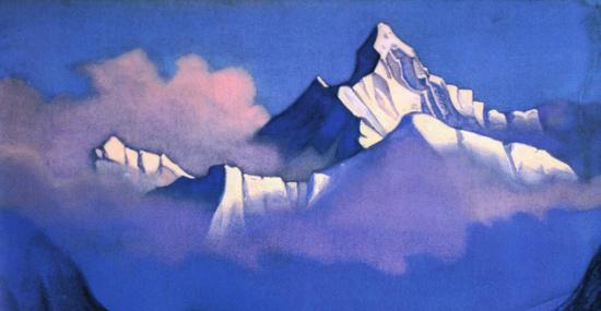 Н.К. Рерих. Утро. Гималаи. 1937