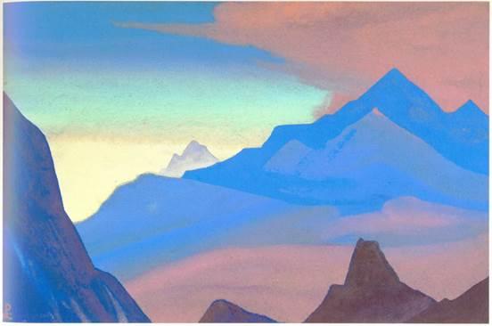 Н.К.Рерих. Гималаи (Рассвет в горах). 1938.  Из собрания Ю.Н.Рериха