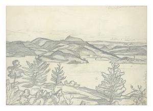 С.Н. Рерих. Озеро (С.Н.Рерих (?) 1912