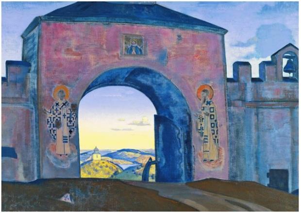 Н.К.Рерих. И Мы открываем врата. Серия «Sancta» («Священная»). 1922