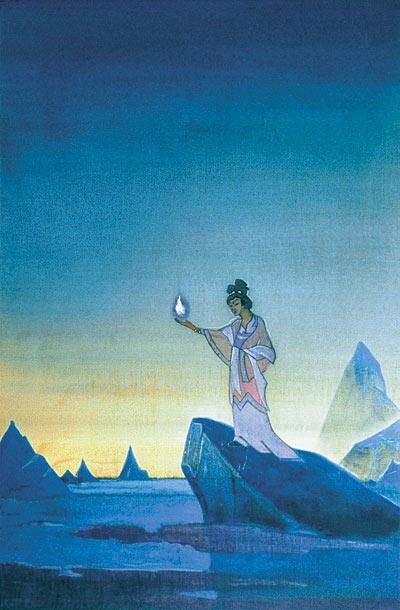 Н.К. Рерих. АГНИ ЙОГА. Правая часть диптиха. 1928 – 1930