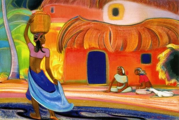 С.Н. Рерих. Мои соседи. 1961 г. Государственный музей искусства народов Востока (Москва)