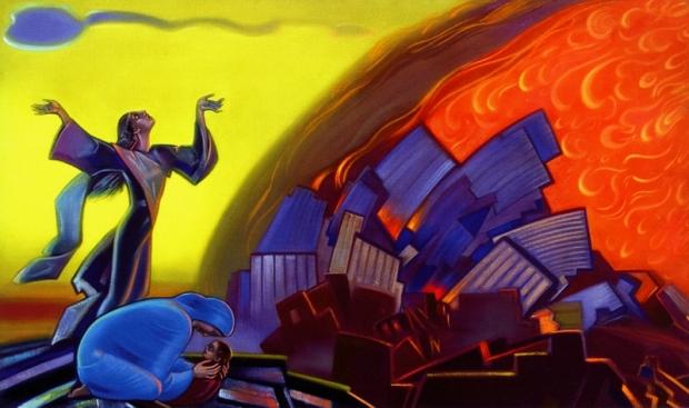 С.Н. Рерих. Ты не должен видеть этого пламени (1968) Государственный музей искусства народов Востока (Москва)