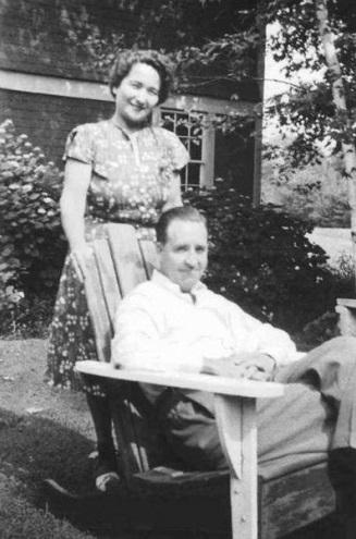Зинаида Григорьевна с мужем Дедлеем Фосдиком. 1940-е