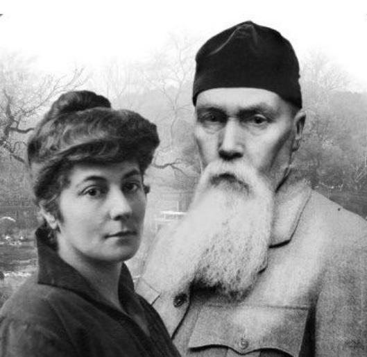 Елена Ивановна и Николай Константинович Рерихи