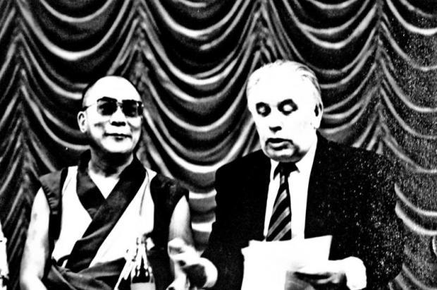 Далай-лама XIV и В.М.Сидоров