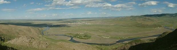 Долина реки Орхон, где располагалась столица Монгольской империи Каракорум