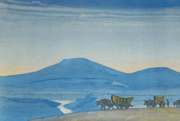 Н.К.Рерих. Караван. Серия «Чингисхан». 1931. ГМИНВ, Москва, Россия