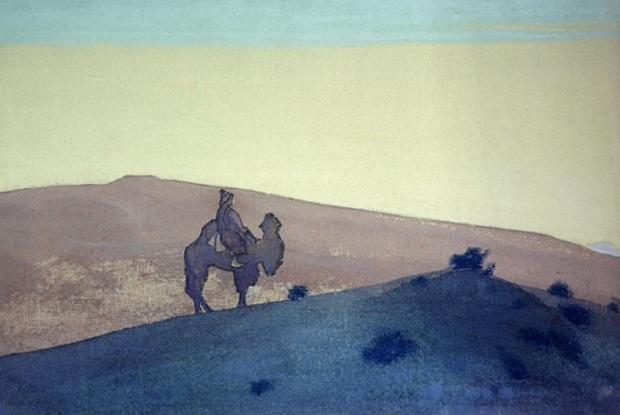 Н.К.Рерих. Одинокий путник. Серия «Чингисхан». 1931. ГМИНВ, Москва, Россия