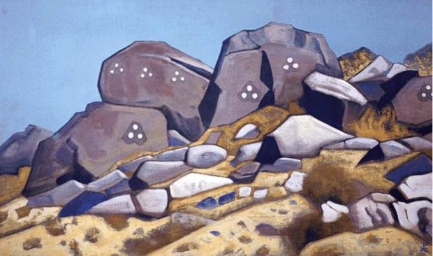 Н.К.Рерих. Шара-Мурен (Святые камни. Монголия). 1935–1936. ГМИНВ, Москва, Россия