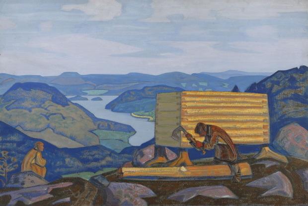Новый дом. 1917 г. Рерих Н.К.