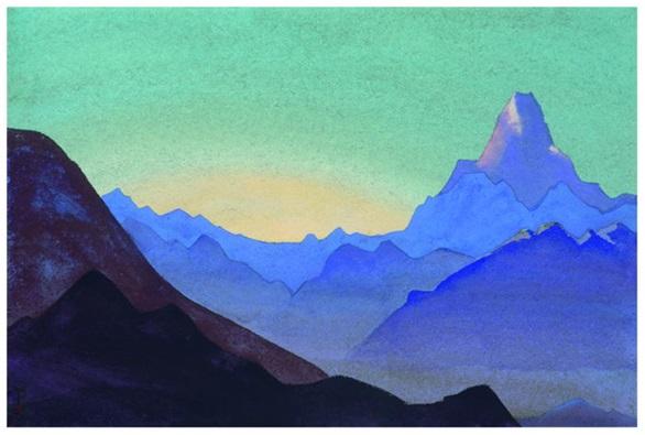 Н. К. Рерих. Гималаи. Рассвет. 1937