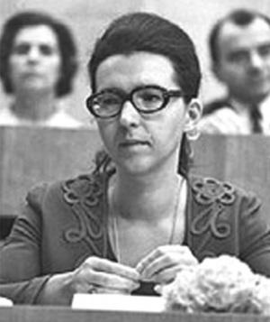 Людмила Живкова в годы учёбы