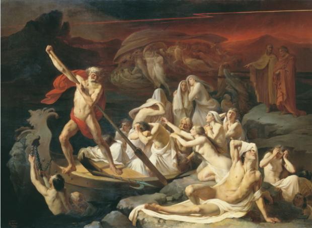 Харон перевозит души через реку Стикс. Литовченко А.Д. 1861 г.