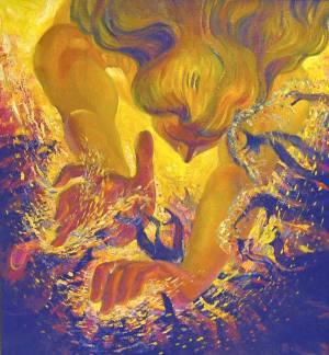 Победи себя, триптих. Битва с черным пламенем.  Валерий Мухин.