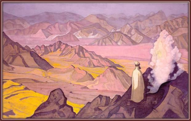 «Магомет на горе Хира», 1925 г. Музей им. Н.К. Рериха, Москва, Россия