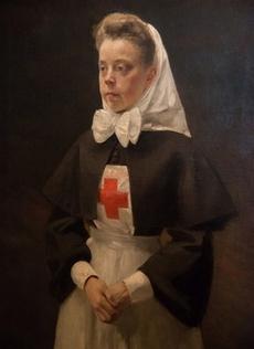 Редкий портрет княгини Натальи Борисовны Шаховской в форме сестры милосердия