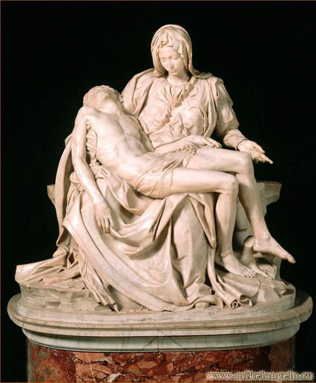 Мрамор. Ок. 1498-1500. Микеланджело Буонарроти. Cобор Св. Петра, Рим
