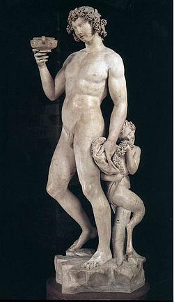 Бахус. 1497 итал. Bacco мрамор. Высота 203 см.,  Барджелло, Флоренция, Италия