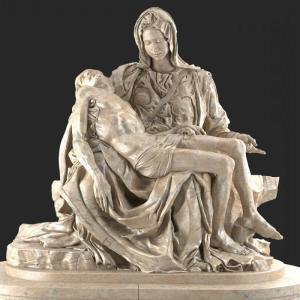 Пьета. 1499 Мрамор. Высота 174 см., Собор Святого Петра, Ватикан