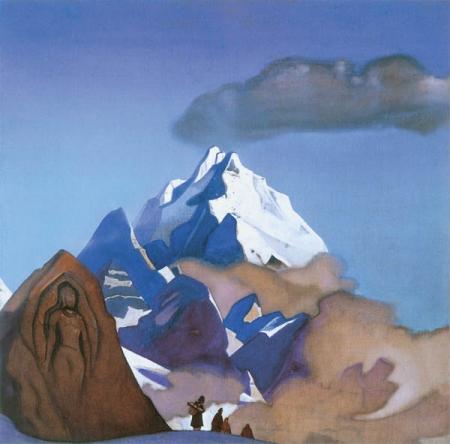 Н.К.Рерих. Через перевал. 1937