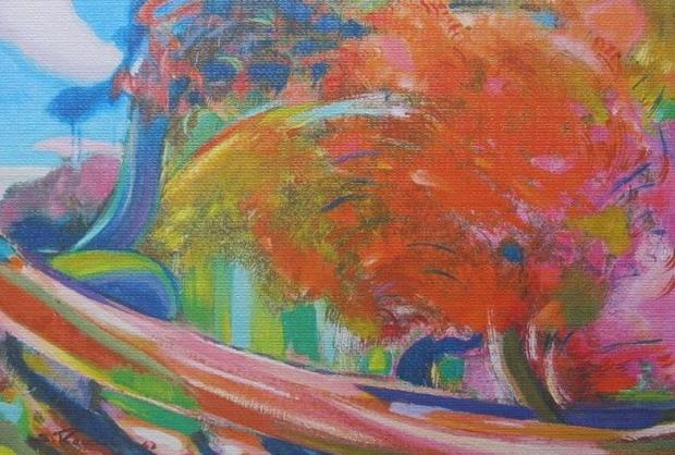 С.Н.Рерих. Пейзаж с деревом. 1963.