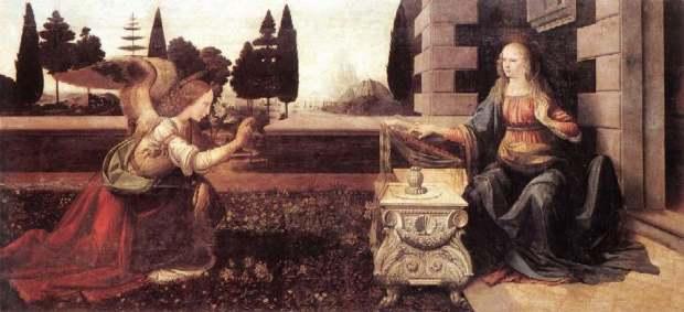 Леонардо да Винчи «Благовещение», 1472-1475