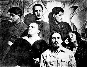 Группа «Амаравелла» (слева направо): сидят А.П.Сардан, П.П.Фатеев, В.Н.Пшесецкая (Руна), стоят С.И.Шиголев, БА.Смирнов-Русецкий, В.Т.Черноволенко