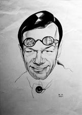 Юрий Анненков, Портрет искусствоведа М.В.Бабенчикова. 1921г.