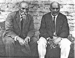 Н.К.Рерих и А.В.Щусев. 1926 г. Москва