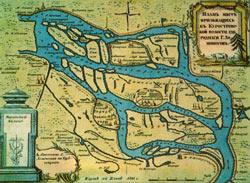Карта мест между Архангельском и Холмогорами из книги Путешествия академика Ивана Лепехина. 1805 г.