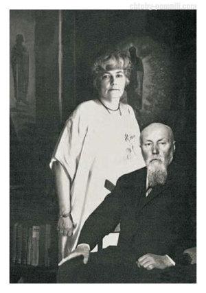 Елена и Николай Рерихи