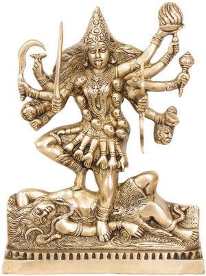 Покоящийся Шива и танцующая на нем Кали