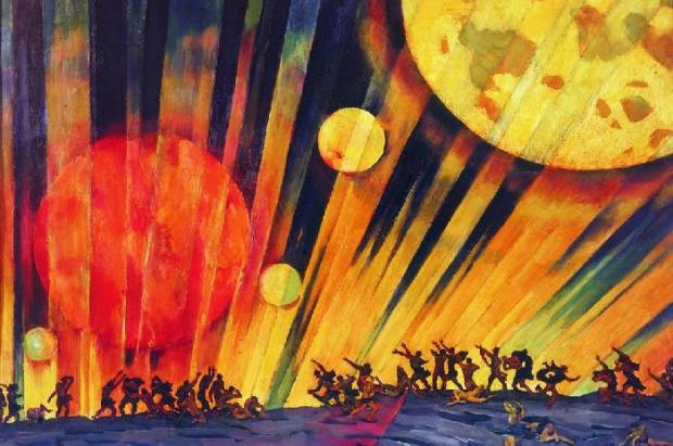 Новая планета. Константин Федорович Юон. 1921