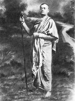 Вивекананда в одеянии странствующего монаха