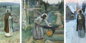 М.В. Нестеров ТРУДЫ ПРЕПОДОБНОГО СЕРГИЯ Триптих. 1896 – 1897